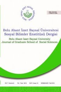 Bolu Abant İzzet Baysal Üniversitesi Sosyal Bilimler Enstitüsü Dergisi