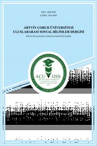 Artvin Çoruh Üniversitesi Uluslararası Sosyal Bilimler Dergisi