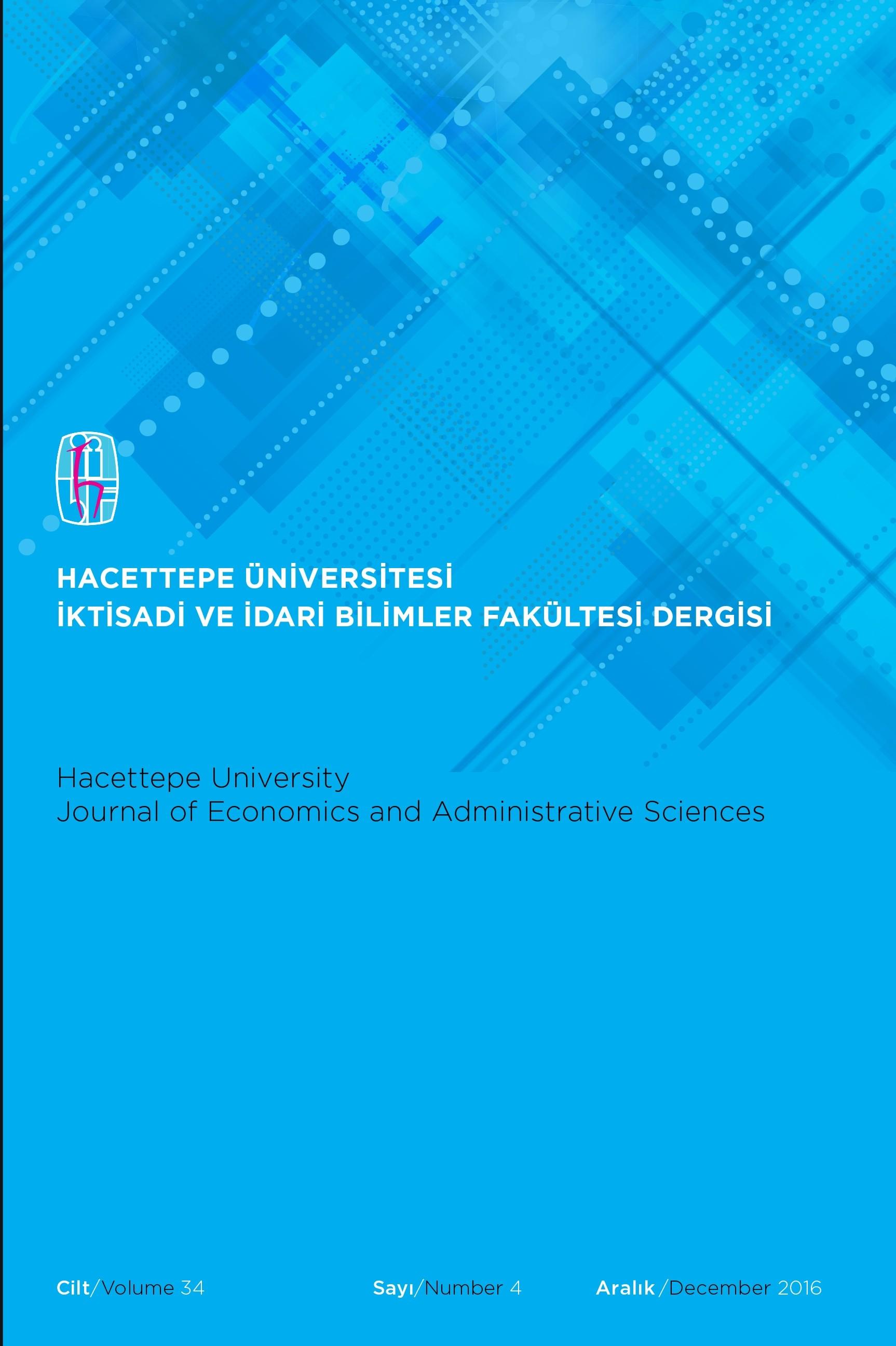 Hacettepe Üniversitesi İktisadi ve İdari Bilimler Fakültesi Dergisi